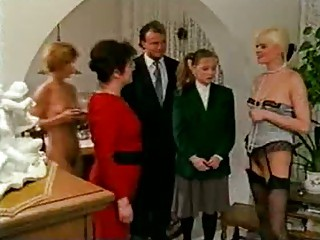 Very perverted German family gets naughty in the living room