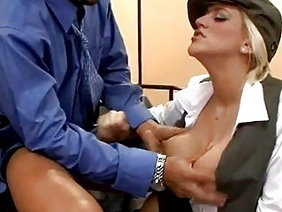 Hawt Large Titted Eve Lawrence Blowing A Hard Rod