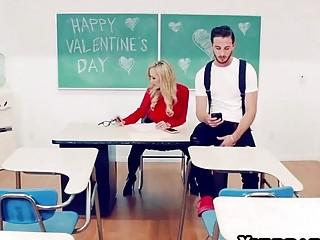 Busty teacher Brandi Love bangs with her hung boy toy