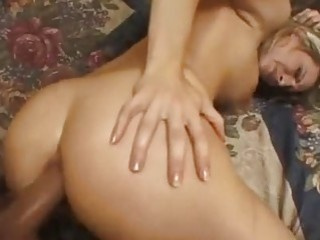Saucy whore Harmony Rose gets her ass fucked before getting splattered with spun
