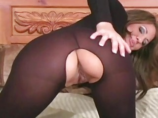 Arousing vagina in a rear view