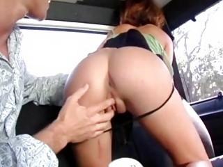 Gangbang bus dick riding session