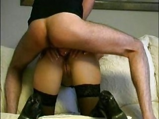 German MILF Give Perfekt Blow and TitJob to her Step-s&period