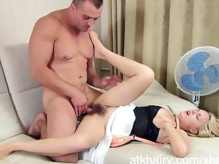 Dominica Phoenix gets her hairy pussy fucked