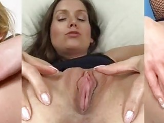 GAPING HOLES Part II - Pussy Spreading Splitscreen Compilation