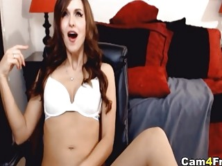 Hot Babe With Sexy Body Curves Fucks Herself With Toy