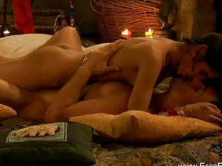Exotic Indian Couple Explore Tantra Sex