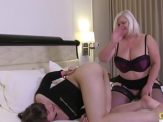 OldNanny Luna Rival and her customer Lacey Starr
