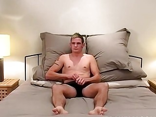 Athletic jock moans and jerks off solo